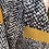 Thumbnail: Black and Mustard Patterned Scarf