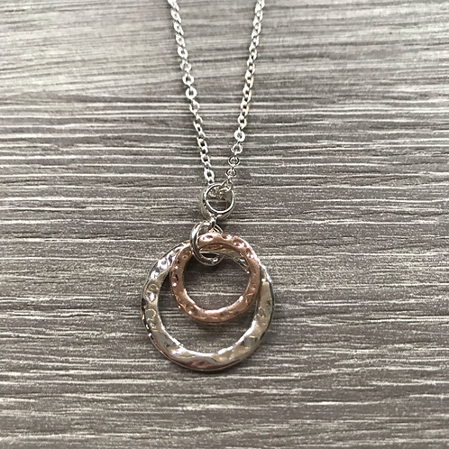 Two Circles Charm Necklace
