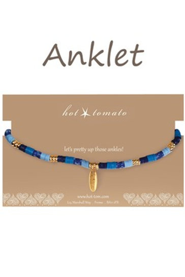 Multi Coloured Anklet - 3 colours