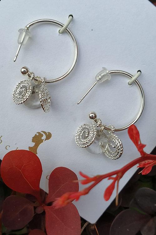 Silver Earrings - Lily
