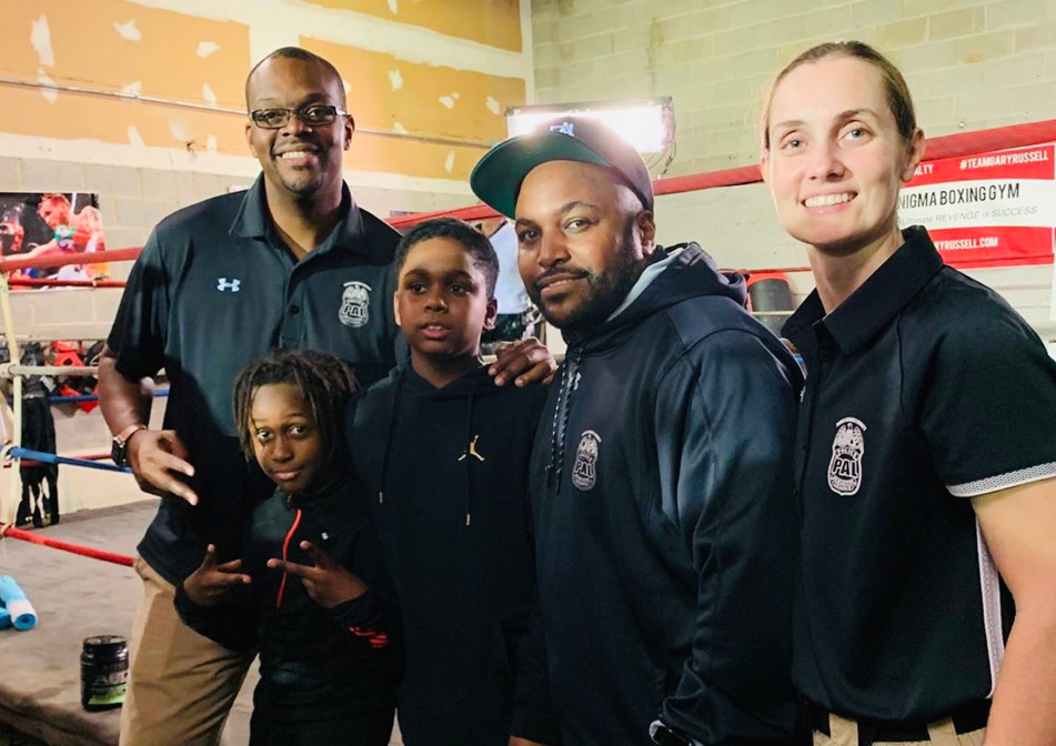 Prince George's County Police Office and CONNECT BOXING CLUB Leaders