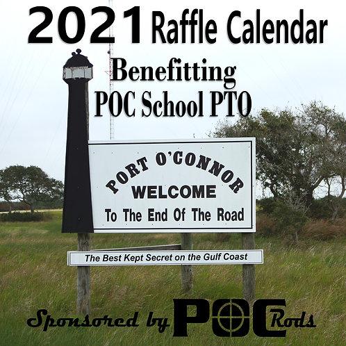 2021 Port O'Connor Rods Raffle Calendar Benefitting POC School PTO