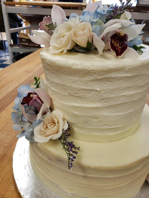 Two-Tiered Wedding Cake