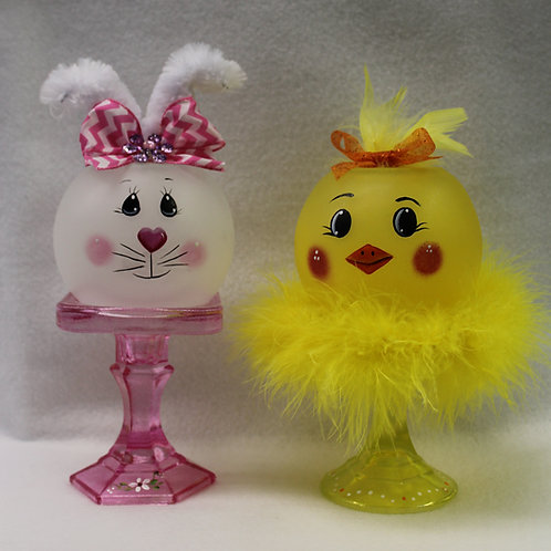 Easter Bunny & Chick Globes/Candle Holders E-Packet