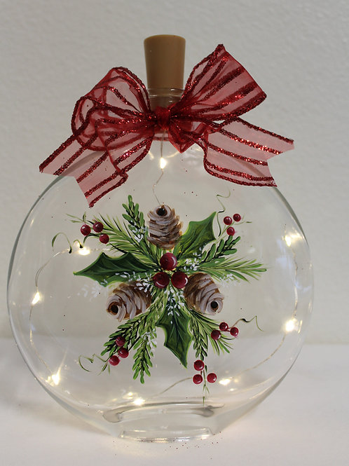 Pinecones, Holly & Berries Jar E-Packet