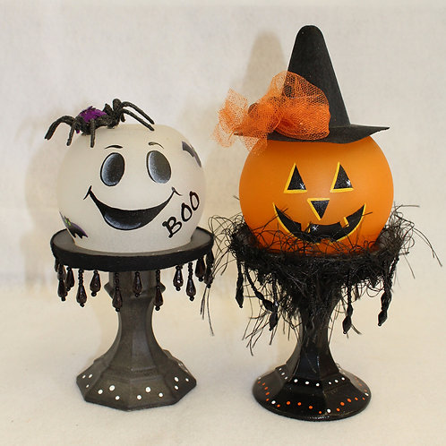 Witch & Ghost Globes/Candle Holders E-Packet