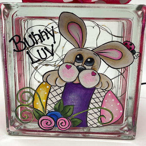 Bunny Luv Glass Block E-Packet