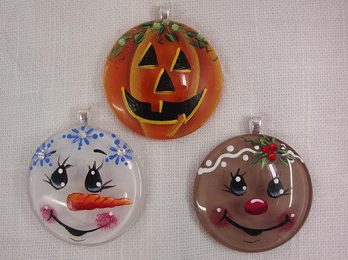 Holiday Face Pendants E-Packet