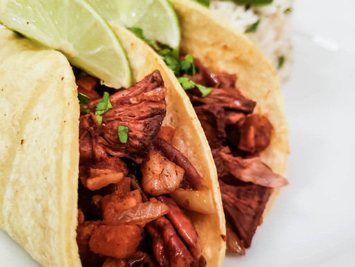 ANCHO, PECAN, SWEET POTATO TACOS with SWEET CHILI SNACK JACK