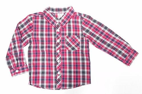 男童長袖格仔裇衫 Boys long-sleeve shirt