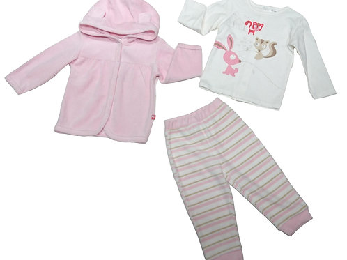 BB 天鵝絨+T裇3件頭套裝 Baby velvet 3pcs set