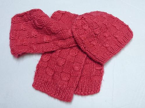 女童冷帽+圍巾