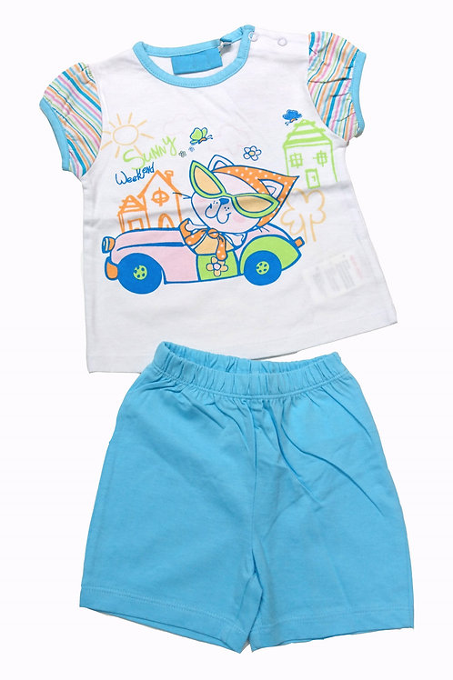 BB短袖兩件頭套裝 Baby short-sleeved 2pcs set