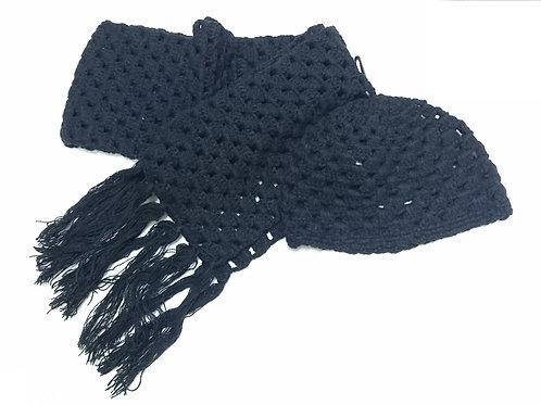 童裝冷帽+圍巾