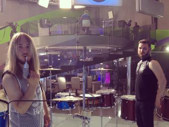 """барабанное шоу """"Moscow HooK"""" на канале """"Москва 24"""" в прямом Эфире. 27 Мая 2014"""