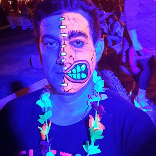 ציורי פנים אולטרה סגול- מפלצת