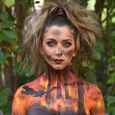 השריפות באמזונס- ציור גוף