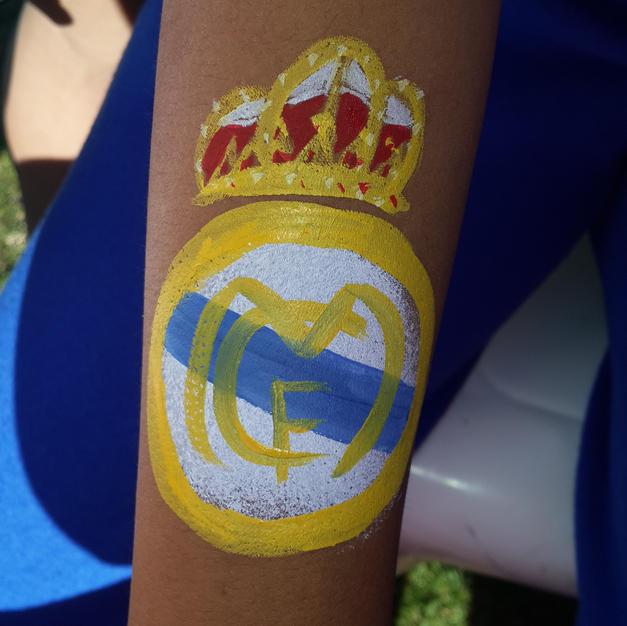 ציור גוף סמל של מדריד