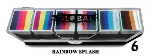 rainbow splash פלטת צבעים