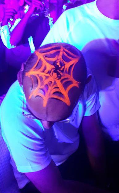 ציורי פנים אולטרה סגול – קורי עכביש