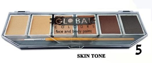 מספר 5-Skin-Tone- פלטת 6 צבעים- צבעי עור