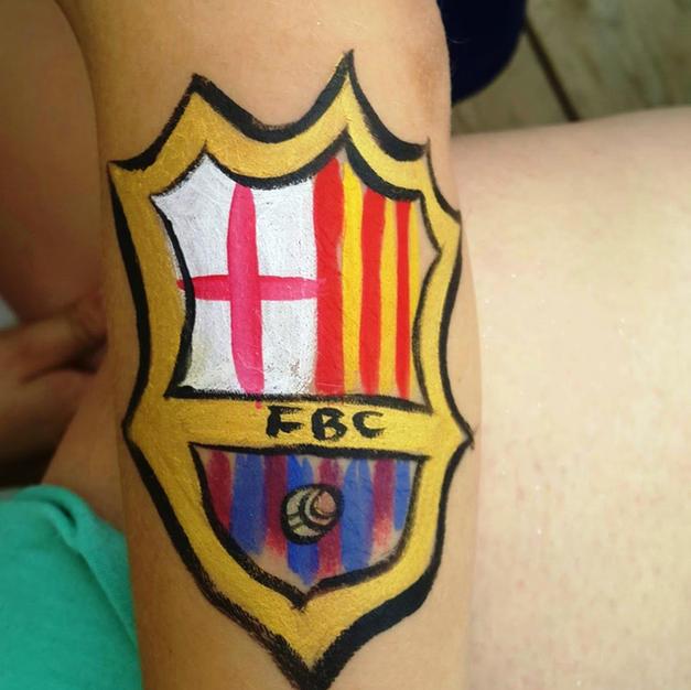 ציור פנים – סמל של ברצלונה