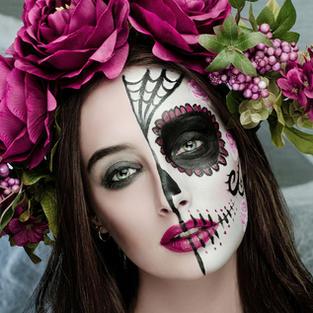 גולגולת מקסיקנית ציור פנים