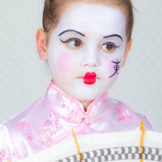 ציור פנים יפנית