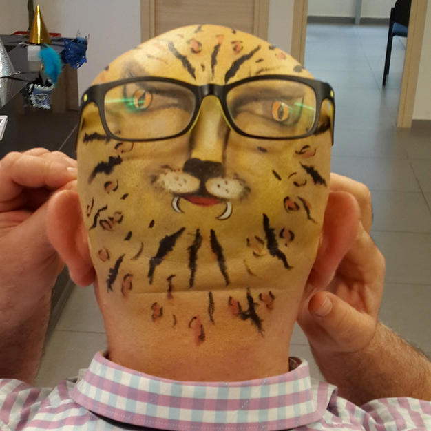 ציור פנים – נמר