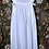 Thumbnail: Mina ~ White Cotton Night Dress~ with embroidery & additional side Ties
