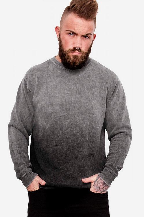 Round neck gradient colour bleed sweatshirt