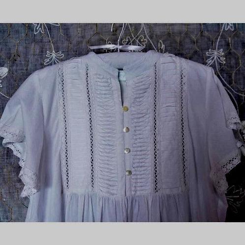 Vanessa ~ Victorian cotton nightgown, with mandarin collar
