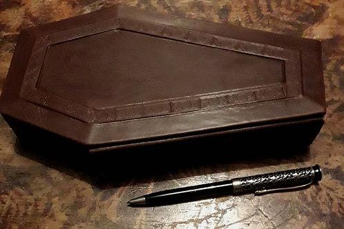 Handmade Leather Coffin Journal