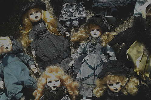 Individual  handmade Goth Doll
