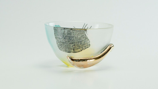 Painted Tea Bowl Clear