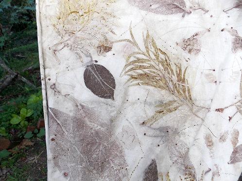 tecido 100% algodão agroecológico com estamparia natural 2x1m