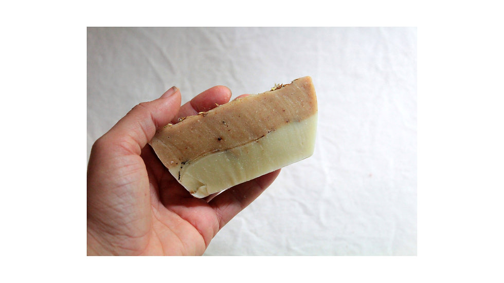 sabão artesanal com OE de canela e patchouli