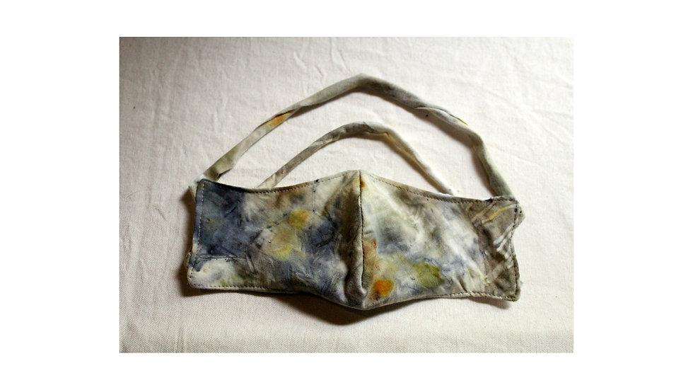 máscara de algodão agroecológico com ecoprint