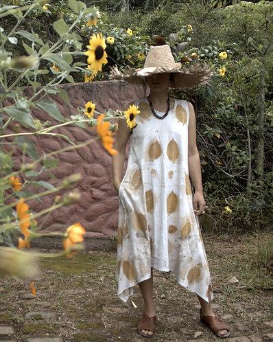 vestido de malha de algodão orgânico