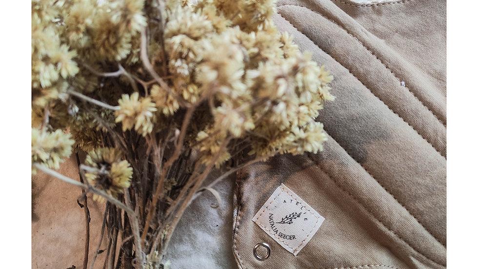 bioabsorvente fluxo baixo tingimento com cogumelos - c/ cera e lã natural