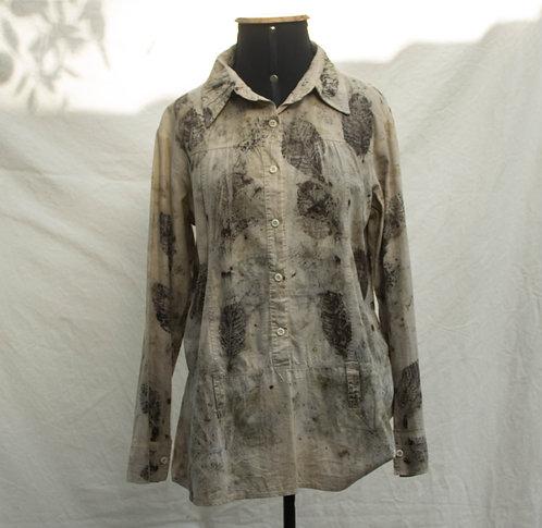 camisa feminina de ecoprint