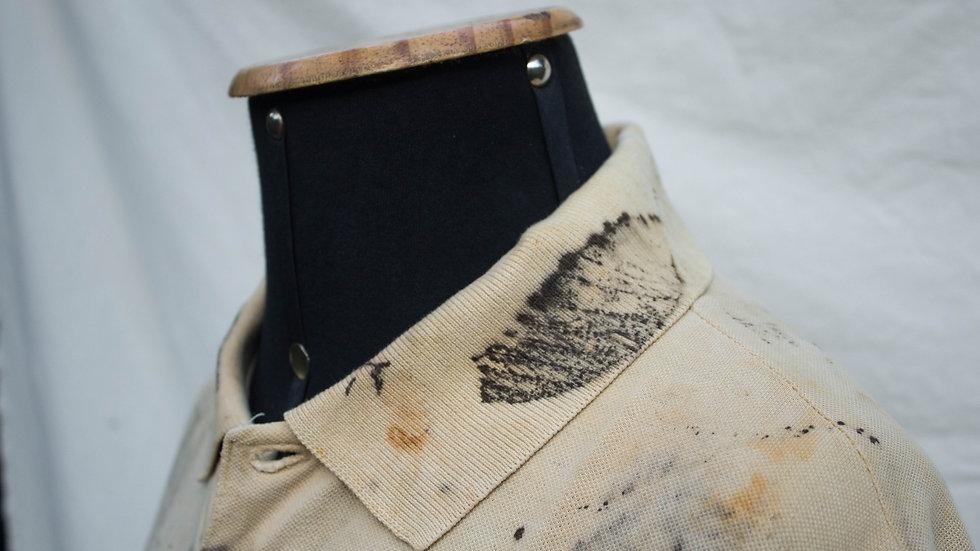 camisa masculina gola polo estampada com impressão botânica