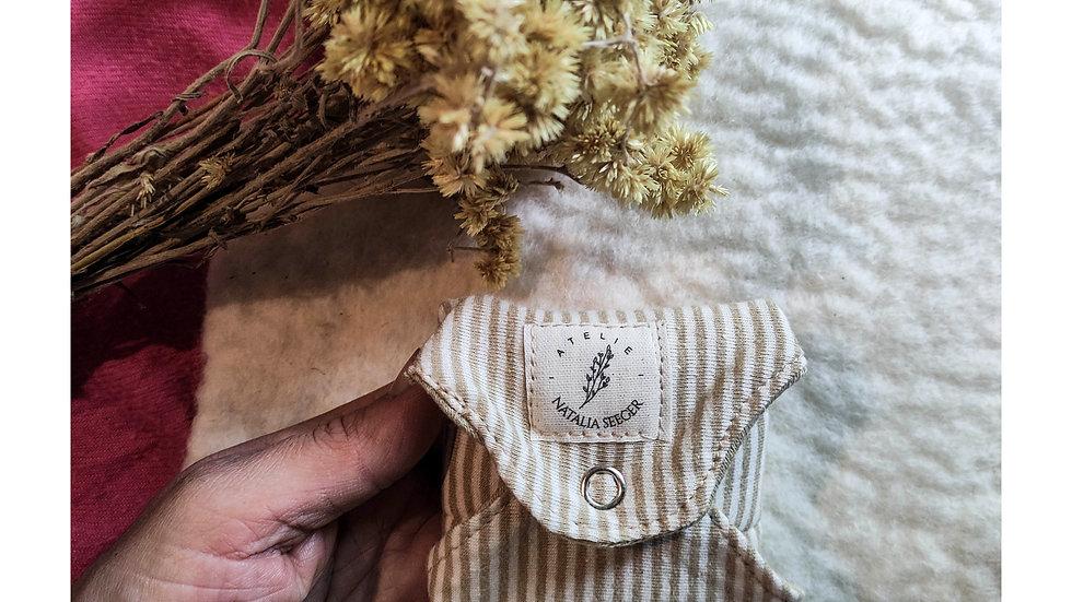 bioabsorvente tingido com cogumelos - c/ cera e lã natural