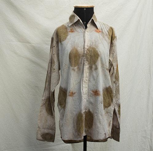 camisa masculina de ecoprint