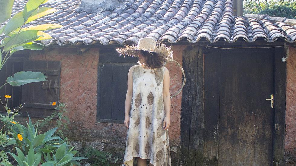 vestido de algodão orgânico