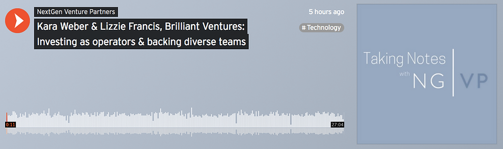 Kara Weber & Lizzie Francis: Investing as operators and backing diverse teams