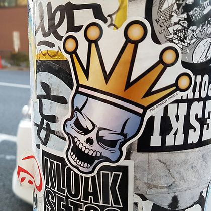 Greedy Skull Sticker