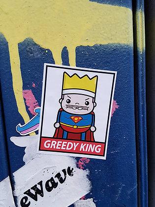 Super Greedy Man Sticker