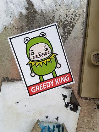 Greedy Frog Sticker