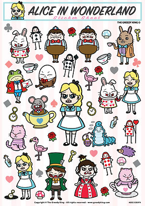 Greedy Alice Sticker Set